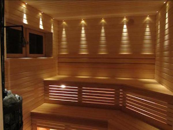 Освещение для бани